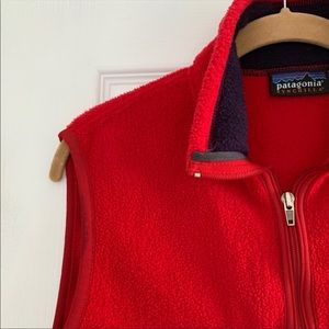 Red Patagonia vest